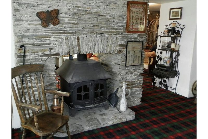 Attractive Stone Fireplace