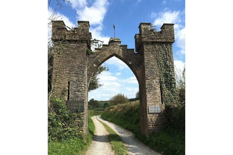 Gothic Arch at Track Entrance
