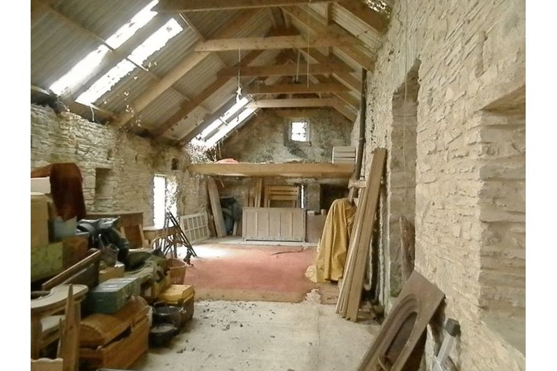 View Inside The Barn