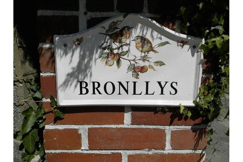 Bronllys Name Plaque