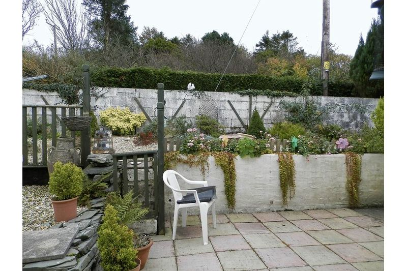 Rear Patio Garden Area