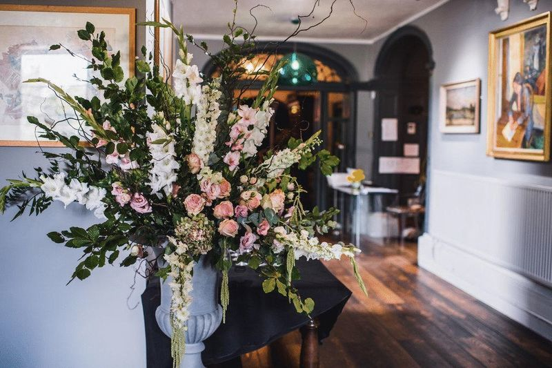 Flowers in Hallway