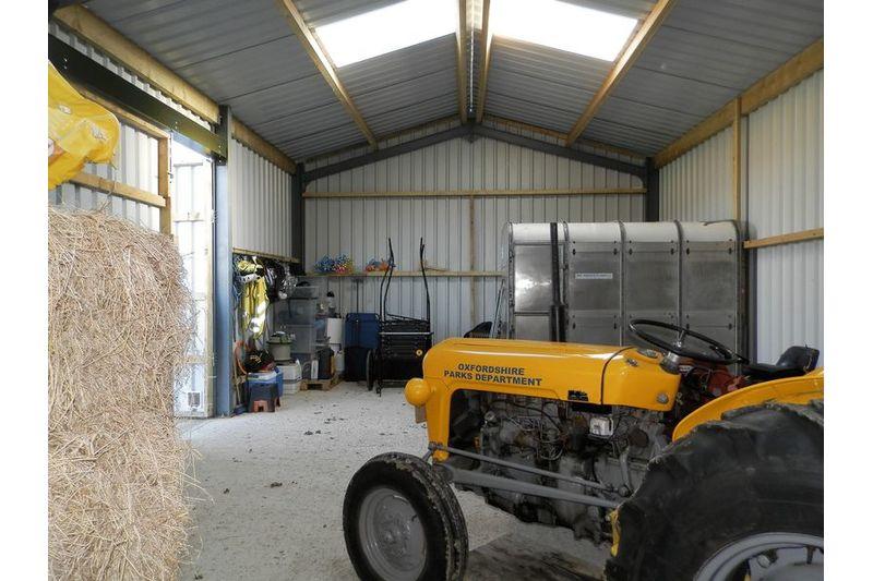 Inside View Of Barn